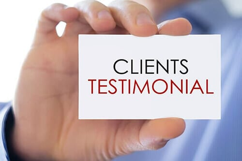 Get Testimonials form Customers